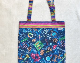 Fully Lined 14X18 Science Rules the Universe Bag