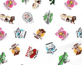 Disney Toy Story Characters Small Print Fabric by the Yard (148), Cotton Fabric 34x12