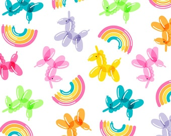 XXS-XXL Balloon Unicorns! Balloonicorns! How Fun is That! Bandana Bib