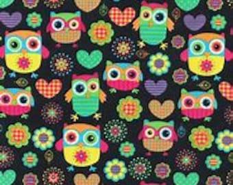 XXS Colorful Owl Bandana