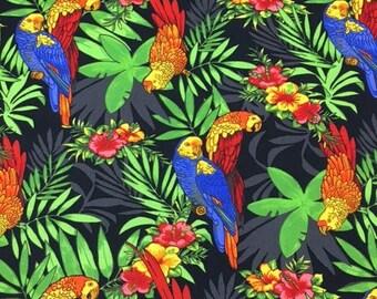 MTO Adjustable, Snapped Bandana Bib M-XXL Bright Colorful Parrots