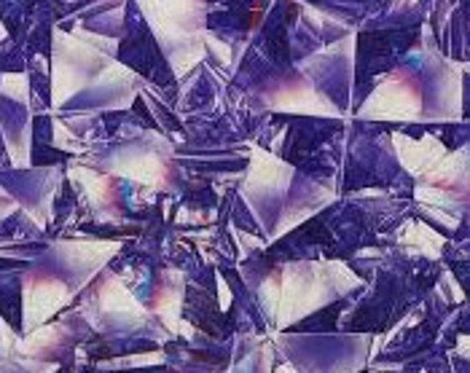 XXS-XXL Purple Kaleidoscope Prism Bandana Bib
