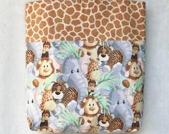 Reversible 12X12 Safari Baby Animal Bag .