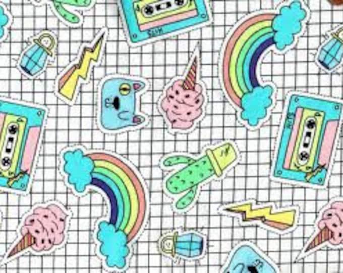 XXS-XXL Sticker Book Dreams Bandana Bib