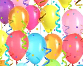 MTO Adjustable, Snapped Bandana Bib XXS-XS Balloons and Streamers