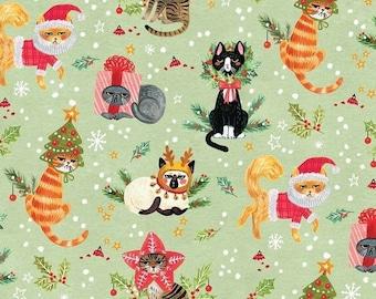 XXS-XXL Rather Unhappy Christmas Cats Bandana Bib