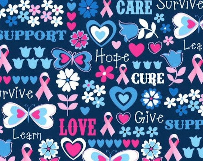 XXS-M Breast Cancer Butterfly Fabric