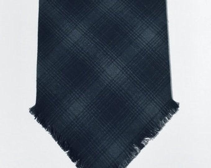 XXS-XL Dark Gray and Black Frayed Bandana - Made to Order
