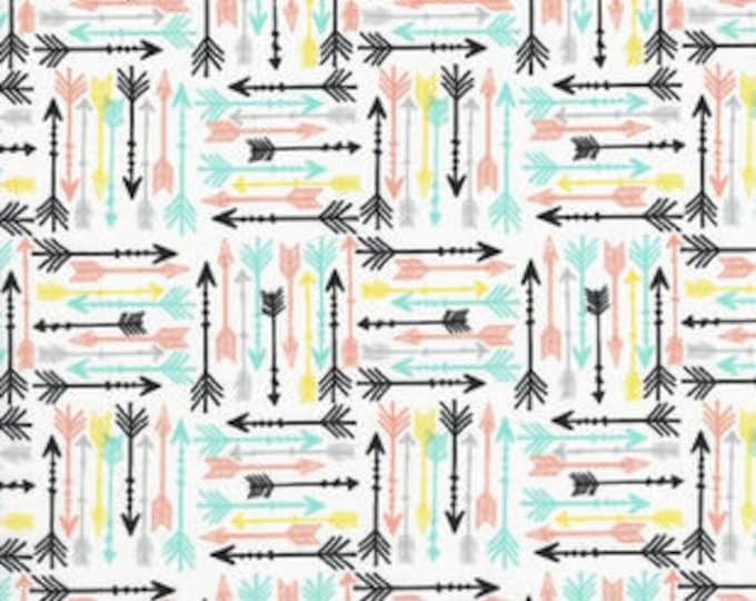 XXS-XXL Pastel Arrows on White Bandana Bib