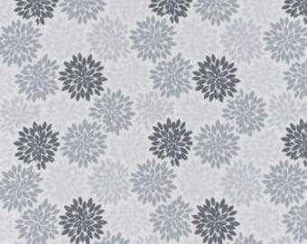 XXS-XXL Gray Floral Burst  Bandana
