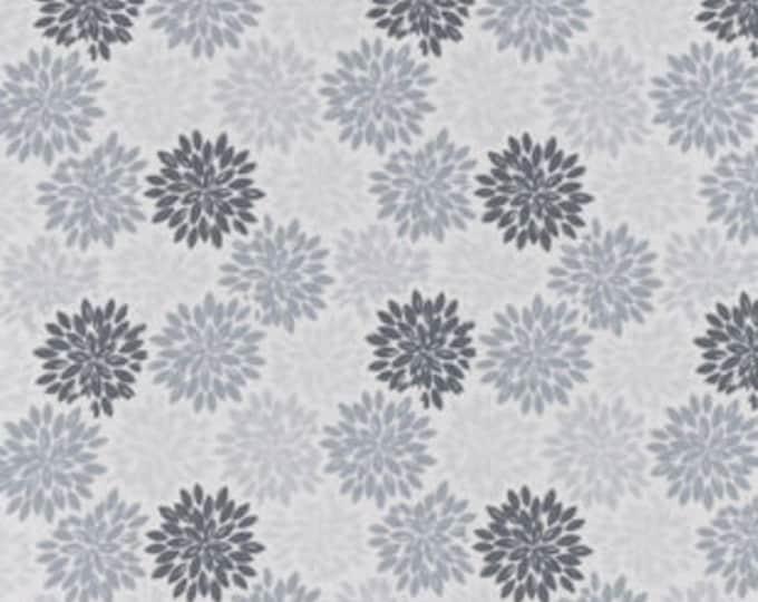 MTO Adjustable, Snapped Bandana Bib XXS-XXL Gray Floral Burst
