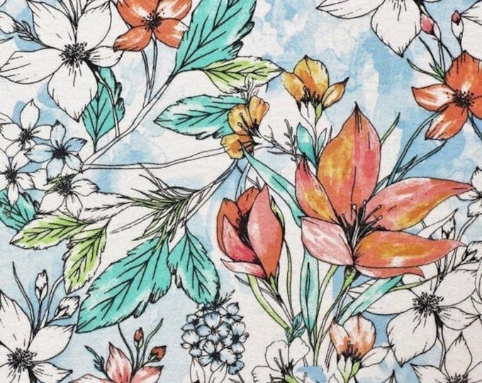 Bandana Bib XXS-XXL Large Print Hawaiian Floral