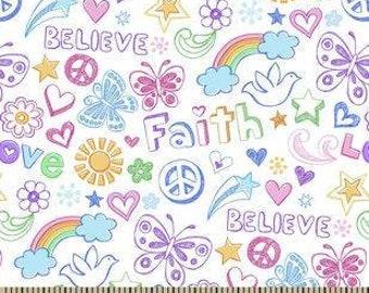 MTO Adjustable, Snapped Bandana Bib XXS Faith Love Believe