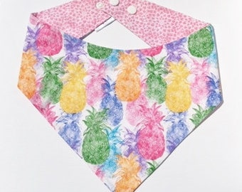 XXS-XXL Pineapples in Every Color of the Rainbow Bandana
