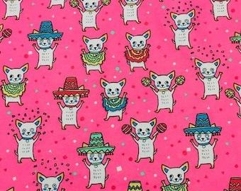 MTO Adjustable, Snapped Bandana Bib XXS-XXL Puppy Mariachi on Pink