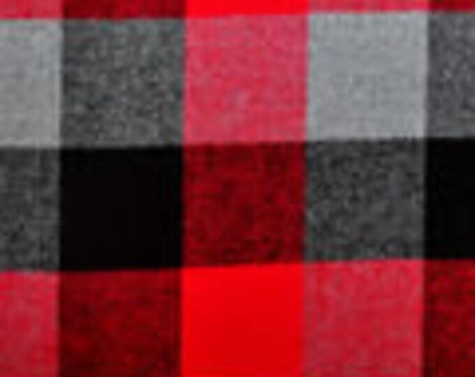 XXS-S Red/Gray/Black Buffalo Frayed Bandana