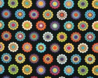 XXS-XXL Groovy Colorful Flowers Bandana Bib