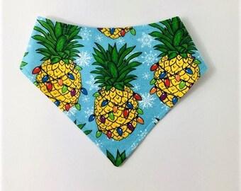 S-XXL Decorated Christmas Pineapple Bandana Bib