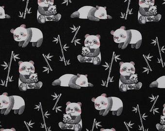MTO Adjustable, Snapped Bandana Bib XXS-XXL Pandas Loving Bamboo