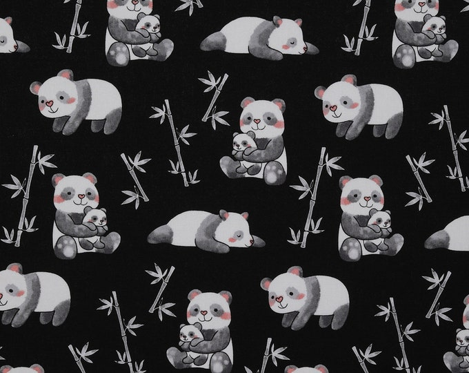 XXS-XXL Pandas Loving Bamboo Bandana Bib