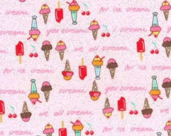 MTO Adjustable, Snapped Bandana Bib XXS-XXL Glittery We All Scream for Ice Cream