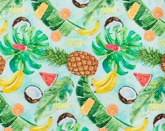 XXS-XXL Hmm, Now What Can We Do With This Tropical Fruit Mix Bandana Bib