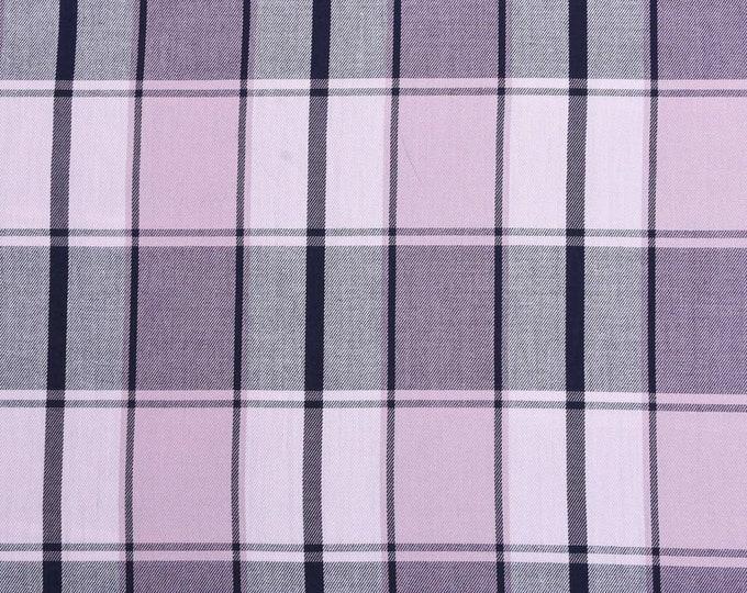 XXS-XXL Lavender Madras Plaid Light Weight Frayed Bandana - Made to Order