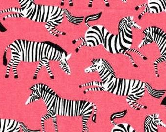 XXS-XXL Zebras on Coral Bandana Bib