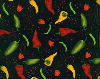 XXS-XL Tossed Peppers on Black Bandana