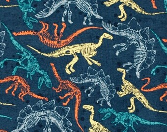 XXS-S Dinosaur Skeletons Bandana Bib