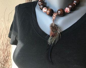 Kamala Feather Necklace