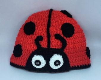1fe8de60810 Super Cute Handmade Ladybird   Ladybug Hat! - Child   Kids Size - Machine  Washable - Free UK Shipping Postage!