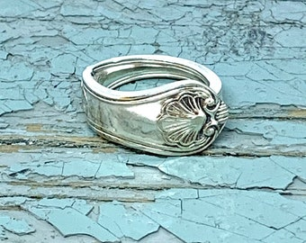 Spoonring Cutlery jewelry Ring made of Mocha Spoon with Amethyst Jewelry made of Silver cutleryart jewelery upcycling silver plated