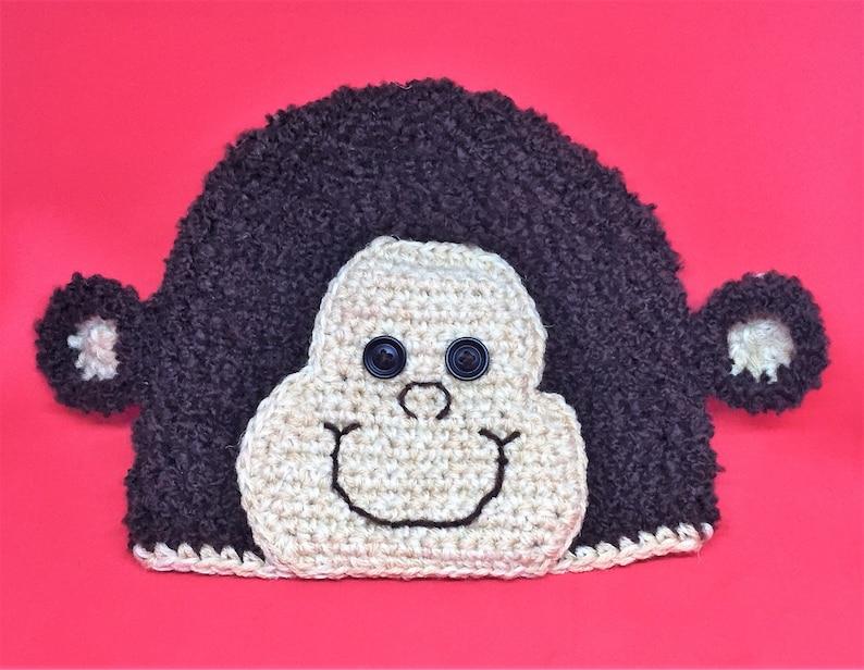 Machine Washable Super Cute /& Cheeky! Monkey Crochet Hat Younger Child  Kids Size