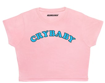 3ddc0ff43cda1a FREE UK Shipping Crybaby Crop Top 90s Grunge Sad Girls Club Kawaii Baby  Girl Daddy White Womens Ladies Pastel Tee Tumblr Top