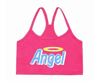 34d6b8a27fa84d FREE SHIPPING Angel Bralet crop top Vintage 70s Retro Feminist Kawaii  Tumblr Top Magical Girl Pastel 90s Festival Clothing