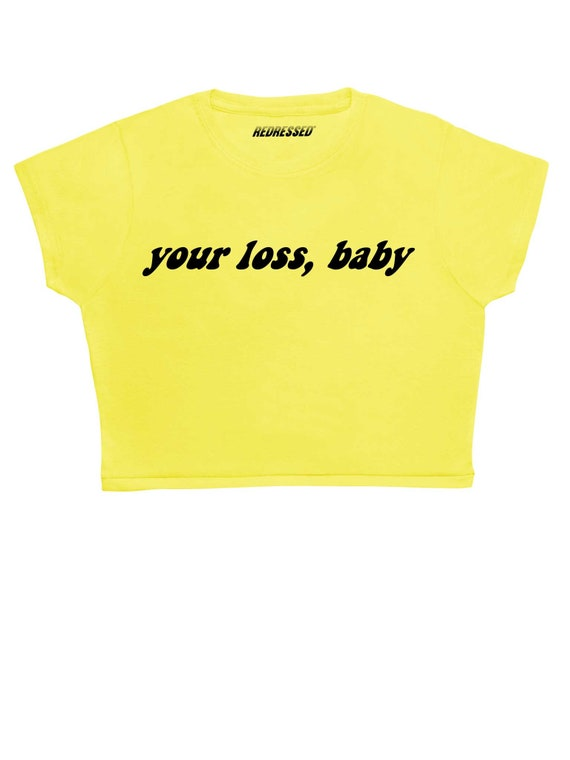 337643abc28e30 FREE UK Shipping Your loss babe Crop Top ∘ 90s Grunge ∘ 70s ∘ Black ∘  Vintage Inspired ∘ Retro ∘ Kawaii ∘ Crybaby ∘ Baby Girl ∘ Pink Blue