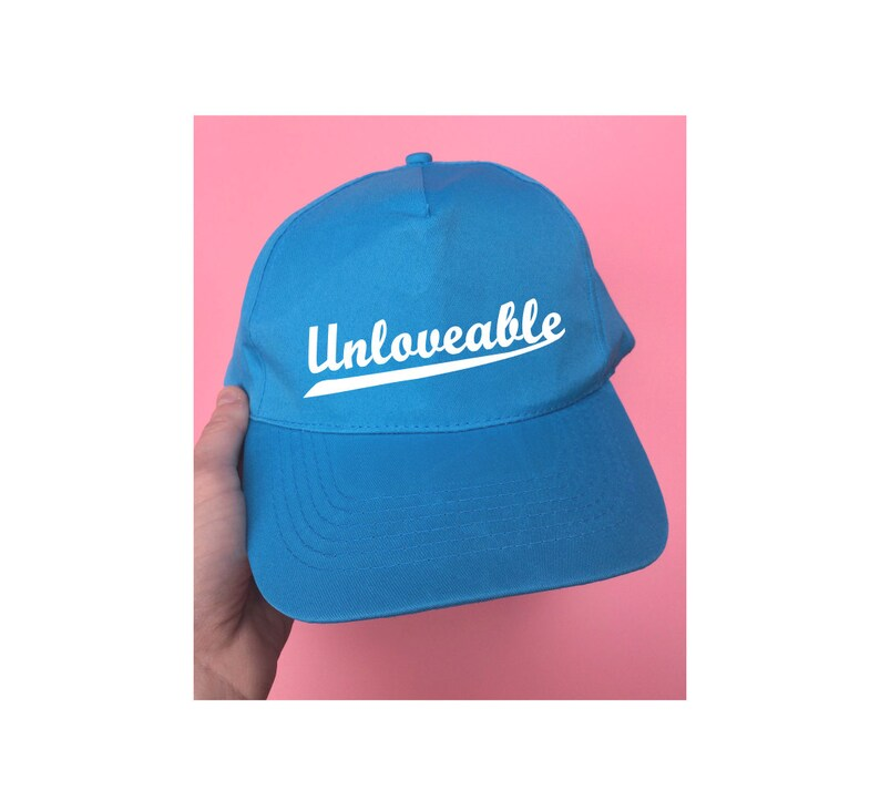 90adf0bbb Unloveable Baseball Cap ∘ Kawaii Soft Grunge ∘ Pastel ∘ Hat ∘ Baby Pink  Blue Red White ∘ Accessories ∘ Instagram ∘ Tumblr