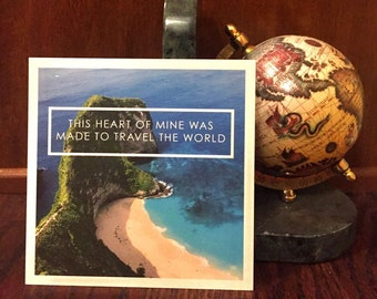A Heart Made For Travel   Bali Travel Print