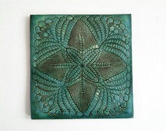 Grüne Keramik Fliese, Keramik Platte, Wand Fliese, Tisch Deko, Hot Plate,  Tisch Untersetzer, Platzer, Kacheln, Wohnkultur, Geschenk
