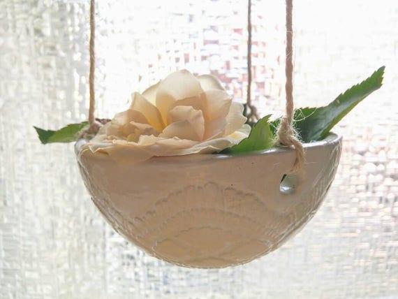 H ngepflanzen topf keramik bertopf h ngende pflanzen - Hangepflanzen garten ...