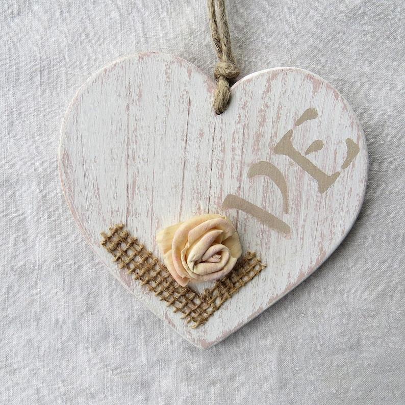 Cuore In Legno Shabby Con Scritta Love Decorazioni In Legno Etsy