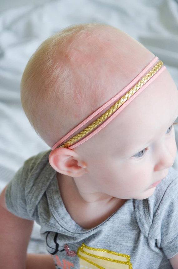 Paige Leather Halo Headband Baby Halo Headband Gold  75bd644b6c2