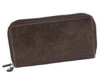 Gift for her big wallet Leather purse Women Purse Ladies wallet Gift for Mom Wallet women retro Wallet women wallet