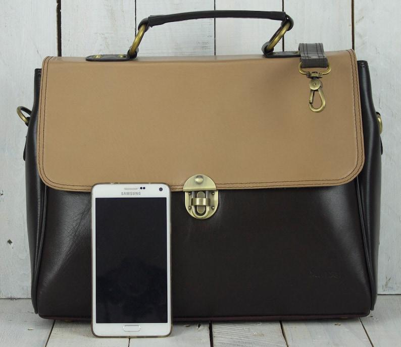 handle bag leather bag Leather shoulder bag women bag big leather shoulder bag Laptop bag handbag Business Bag leather crossbody