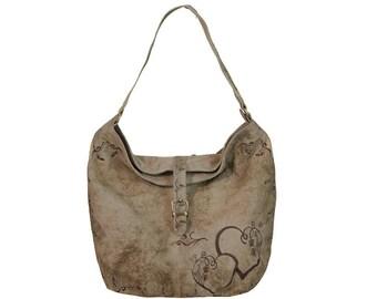 Domelo Tracht shoulder bag handbag Shopper Vintagebag leather bag