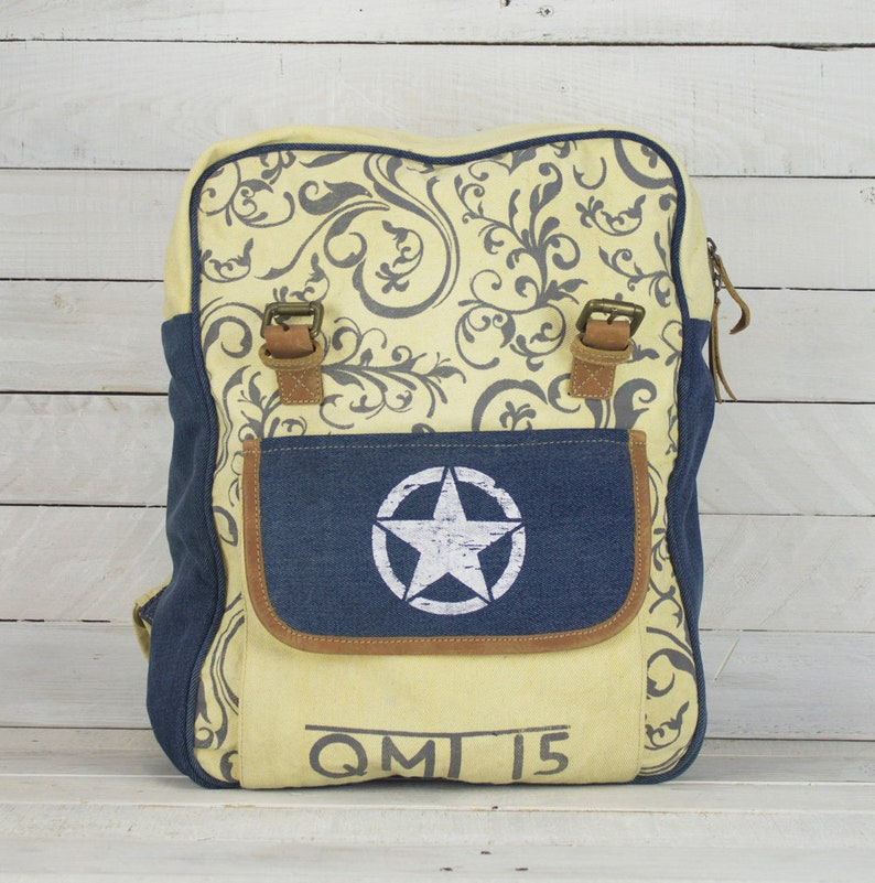 Canvas Backpack Small Backpack Canvas Backpack Unisex Vintage Backpack,Backpack Bag Rucksac Canvas Retro backpack College Backpack