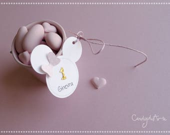 Minnie Tag-First birthday-Gift tags-minnie silhouette-Pink Tag