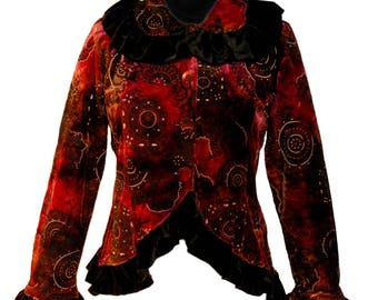 Chico-to-Freako Velvet Jacket Upcycled Clothing Boho Altered Couture