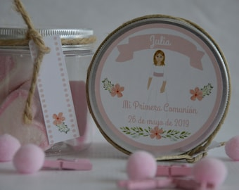 BOTE CHUCHES personalized boy, girl for Communion, Baptism or Birthday